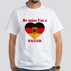 Sauer, Valentine's Day White T-Shirt