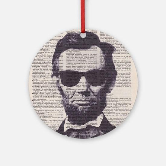 Cool Lincoln Ornament (Round)