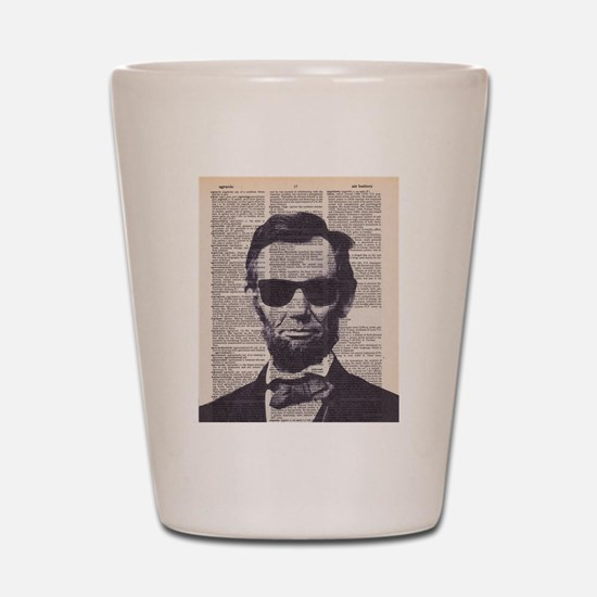 Cool Lincoln Shot Glass