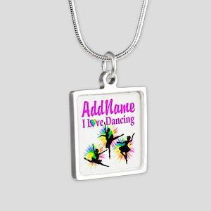 DANCER DREAMS Silver Square Necklace