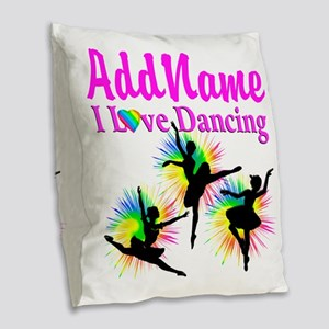DANCER DREAMS Burlap Throw Pillow