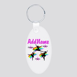 DANCER DREAMS Aluminum Oval Keychain