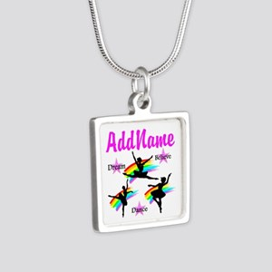 DANCER DREAMS Silver Square Necklace