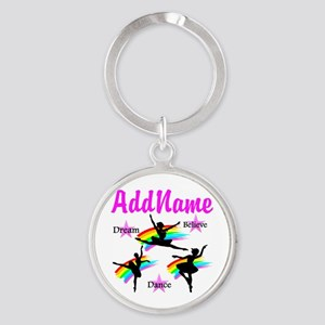 DANCER DREAMS Round Keychain