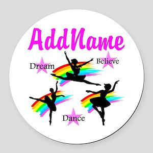 DANCER DREAMS Round Car Magnet