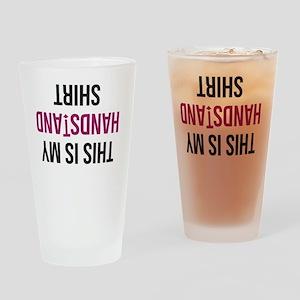 Handstand Shirt Drinking Glass