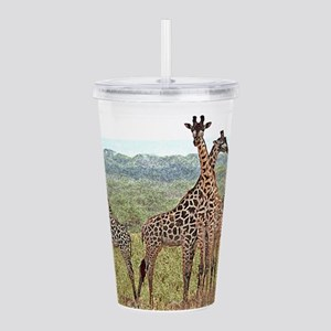 wc-giraffe07 Acrylic Double-wall Tumbler