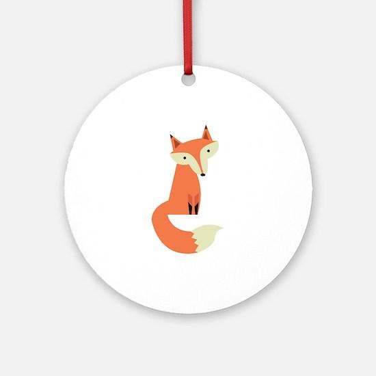 Fox Ornament (Round)