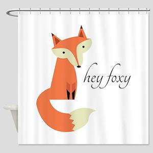 Hey Foxy Shower Curtain