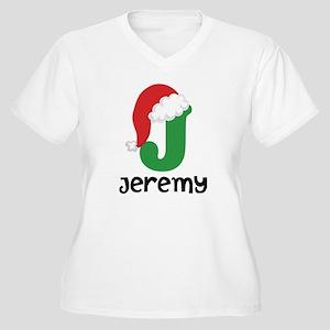 Christmas Santa Hat J Monogram Plus Size T-Shirt