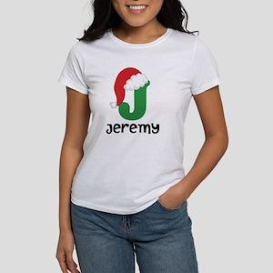 Christmas Santa Hat J Monogram T-Shirt