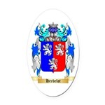 Herbelot Oval Car Magnet
