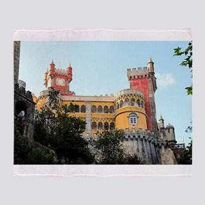 Pena Palace, Sintra, near Lisbon, Po Throw Blanket