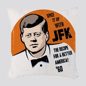 JFK Recipe Woven Throw Pillow