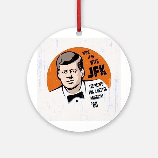 JFK Recipe Ornament (Round)