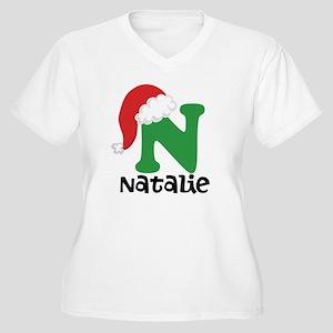 Christmas Santa Hat N Monogram Plus Size T-Shirt