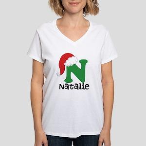 Christmas Santa Hat N Monogram T-Shirt
