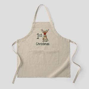 First Christmas Reindeer Apron