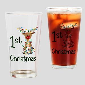 First Christmas Reindeer Drinking Glass