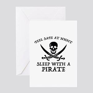 Sleep With A Pirate Greeting Card