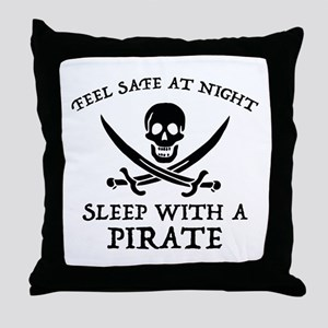 Sleep With A Pirate Throw Pillow
