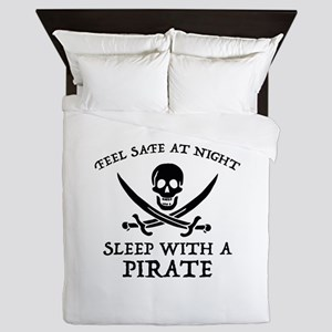 Sleep With A Pirate Queen Duvet