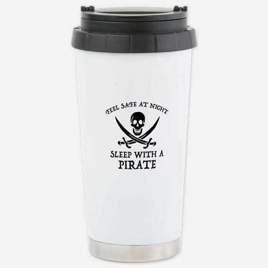 Sleep With A Pirate Ceramic Travel Mug