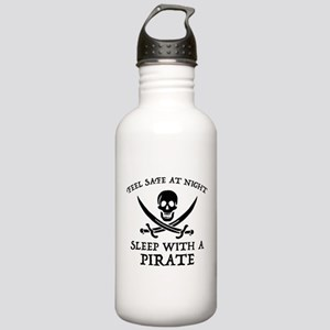 Sleep With A Pirate Stainless Water Bottle 1.0L