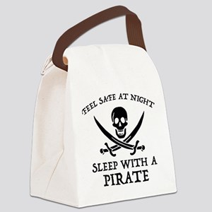 Sleep With A Pirate Canvas Lunch Bag