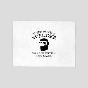Sleep With A Welder 5'x7'Area Rug