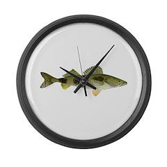 Sauger v2 Large Wall Clock