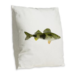 Sauger v2 Burlap Throw Pillow