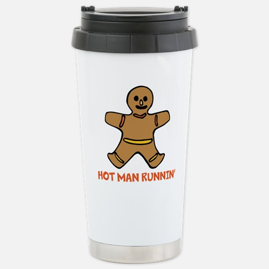 Hot Man Runnin Travel Mug