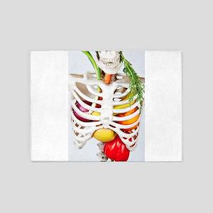 Skinny Eats Healthy Foods 5'x7'Area Rug