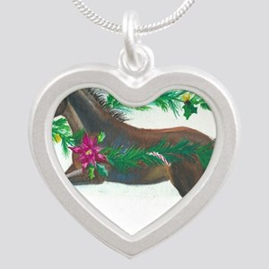 Naughty or Nice Silver Heart Necklace