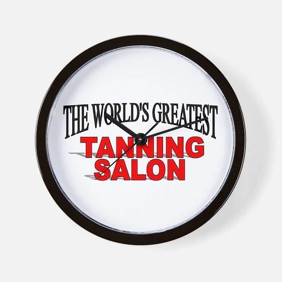 """The World's Greatest Tanning Salon"" Wall Clock"