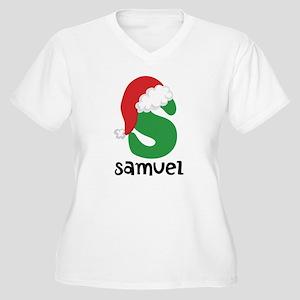 Christmas Santa Hat S Monogram Plus Size T-Shirt