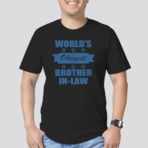 World's Okayest Brothe Men's Fitted T-Shirt (dark)