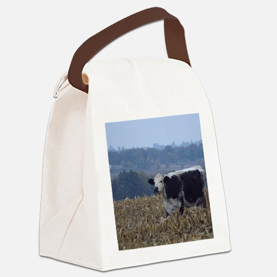 Cows in a Cornfield Canvas Lunch Bag