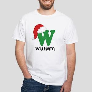Christmas Santa Hat W Monogram T-Shirt