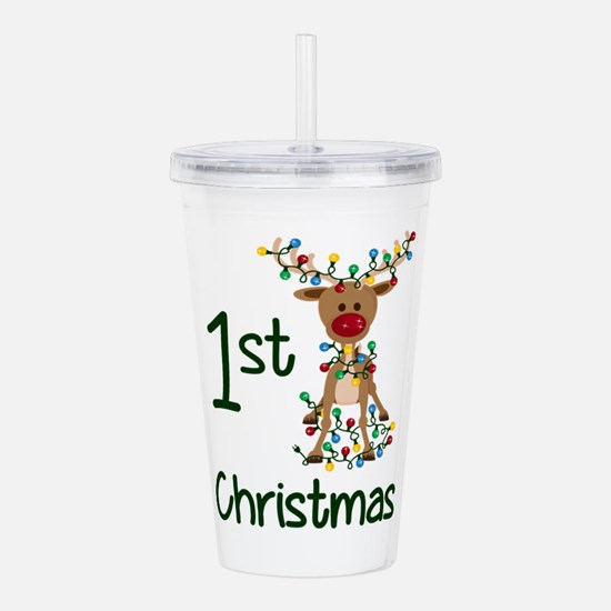 First Christmas Reinde Acrylic Double-wall Tumbler