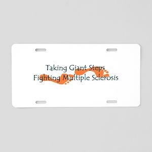 Taking Giant Steps - MS Aluminum License Plate