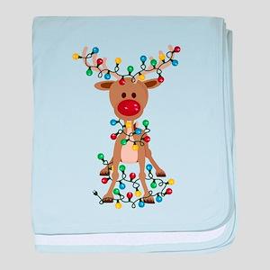 Adorable Christmas Reindeer baby blanket