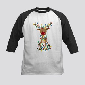 Adorable Christmas Reindeer Baseball Jersey