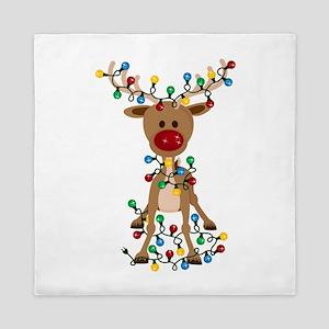 Adorable Christmas Reindeer Queen Duvet
