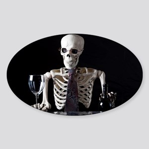 Skinny Skeleton Tends Bar Sticker