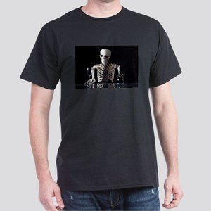 Skinny Skeleton Tends Bar T-Shirt