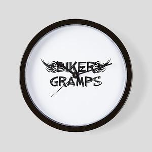 Biker Gramps Wall Clock