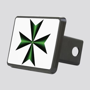 Green Maltese Cross Rectangular Hitch Cover
