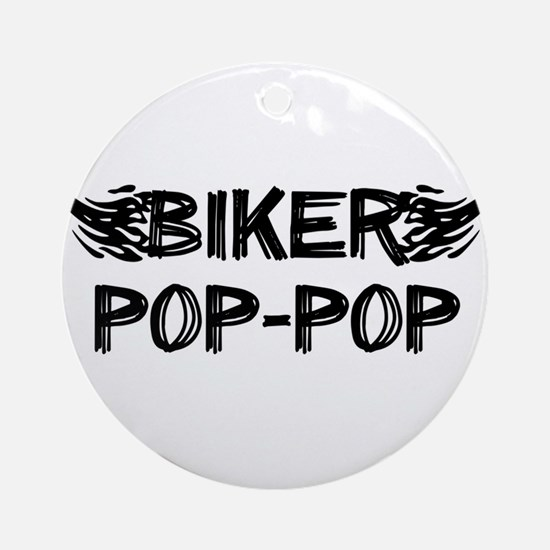 Biker Pop pop Ornament (Round)